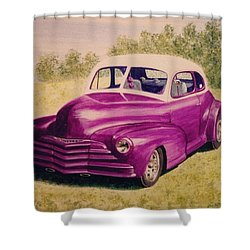 Purple Chevrolet Shower Curtain by Stacy C Bottoms