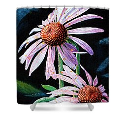 Purple Cone Flowers 1 Shower Curtain by Hanne Lore Koehler