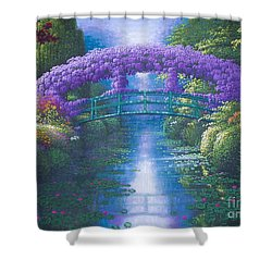 Purple Connection Shower Curtain