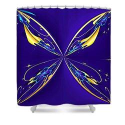 Purple Diamonds Shower Curtain by Liane Wright