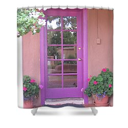 Shower Curtain featuring the photograph Purple Door by Dora Sofia Caputo Photographic Art and Design