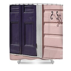Shower Curtain featuring the photograph Purple Door by Valerie Reeves