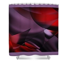 Purple Energy  Shower Curtain