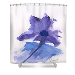 Shower Curtain featuring the painting Purple Flower by Frank Bright