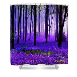 Purple Forest Shower Curtain