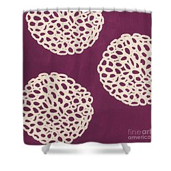 Purple Garden Bloom Shower Curtain by Linda Woods