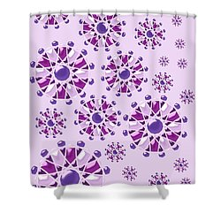 Purple Gems Shower Curtain by Anastasiya Malakhova