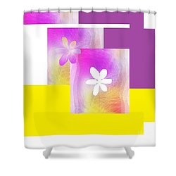 Purple Glow Flower Shower Curtain