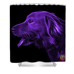 Purple Golden Retriever - 4047 F Shower Curtain