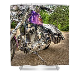 Purple Harley Shower Curtain by Thomas Young