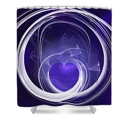 Shower Curtain featuring the digital art Purple Heart by Menega Sabidussi