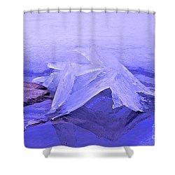 Purple Ice Shower Curtain by Randi Shenkman