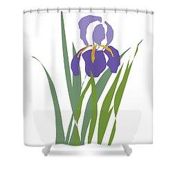 Purple Iris Stylized Shower Curtain