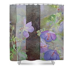 Purple Ivy Geranium Shower Curtain