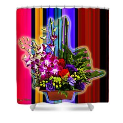 Purple Lady Flowers Shower Curtain by Chuck Staley