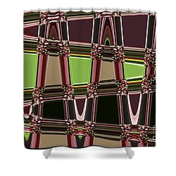 Purple Leaves Abstract Shower Curtain by Carol Groenen