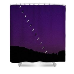 Purple Moon Setting In West Shower Curtain