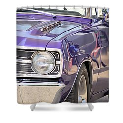 Purple Mopar Shower Curtain