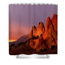Purple Morning At Garden Of The Gods Shower Curtain