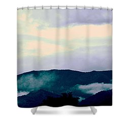 Purple Mountains Majesty Blue Ridge Mountains Shower Curtain