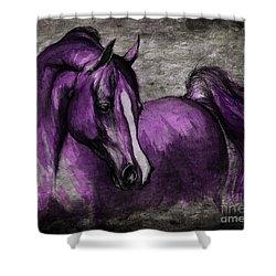 Purple One Shower Curtain by Angel  Tarantella