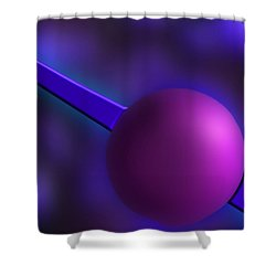 Purple Orb Shower Curtain