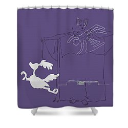 Purple Palm Springs Idyll Shower Curtain by Stan  Magnan