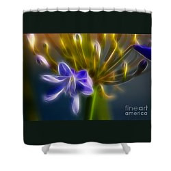 Purple Passion 6318-fractal Shower Curtain by Gary Gingrich Galleries