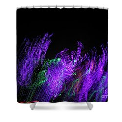 Purple Passion. Dancing Lights Series Shower Curtain by Ausra Huntington nee Paulauskaite