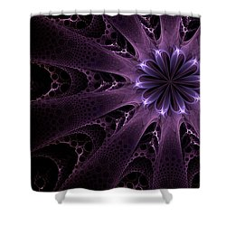 Purple Passion Shower Curtain by GJ Blackman
