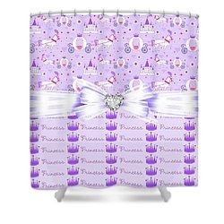 Purple Passion Princess  Shower Curtain by Debra  Miller
