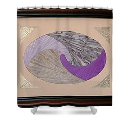Shower Curtain featuring the mixed media Purple Passion by Ron Davidson