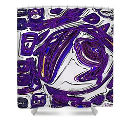 Purple People Eater Shower Curtain by Alec Drake
