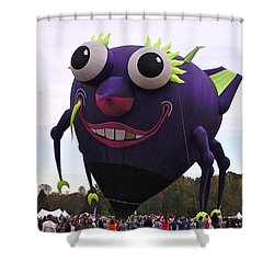 Purple People Eater Shower Curtain