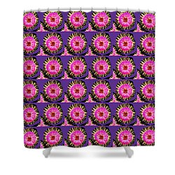 Purple Pink Flower Pattern Decoration Background Designs  And Color Tones N Color Shades Available F Shower Curtain by Navin Joshi