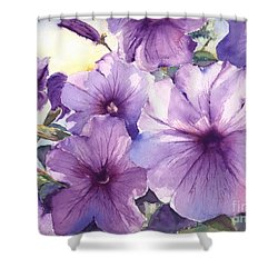 Purple Profusion Shower Curtain