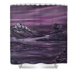 Purple Rain 2 Shower Curtain by Cynthia Adams
