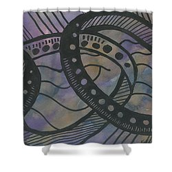 Purple Rings Shower Curtain