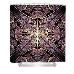 Purple Shield Shower Curtain by Anastasiya Malakhova