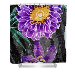 Shower Curtain featuring the photograph Purple Silk by Fortunate Findings Shirley Dickerson