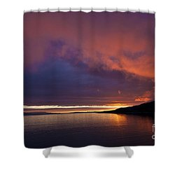 Purple Skies Shower Curtain by Heiko Koehrer-Wagner