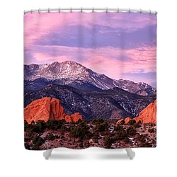 Purple Skies Over Pikes Peak Shower Curtain
