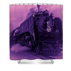 Purple Smoke Shower Curtain