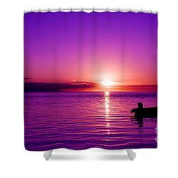 Shower Curtain featuring the photograph Purple Sunrise by Yew Kwang