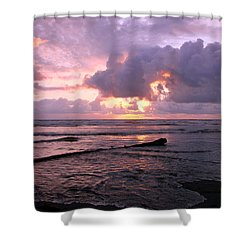 Shower Curtain featuring the photograph Purple Pink Sunset by Athena Mckinzie