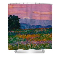 Purple Sunset On The Blue Ridge Shower Curtain