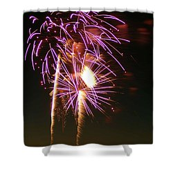 Purple Trees Shower Curtain by Optical Playground By MP Ray