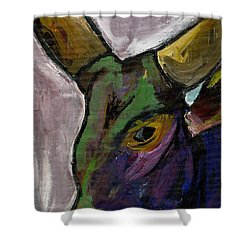 Purple Ugandan Cow Shower Curtain