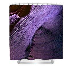 Purple Waves Shower Curtain by Mike  Dawson