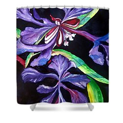 Purple Wildflowers Shower Curtain by Lil Taylor